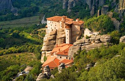 A mountain monastry in Greece
