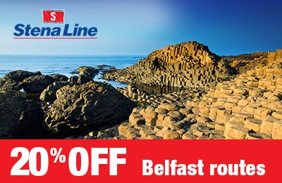 Save 20% on Cairnryan & Liverpool to Belfast routes!